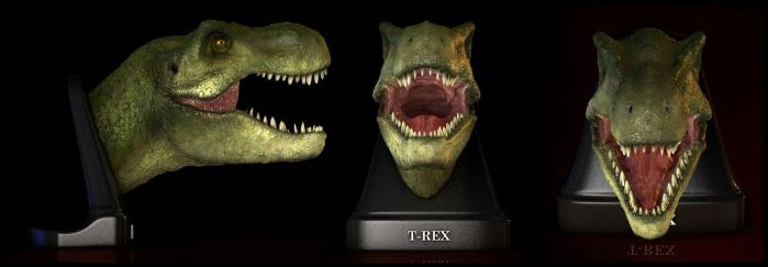 T-Rex open mouth by EderCarfagnini
