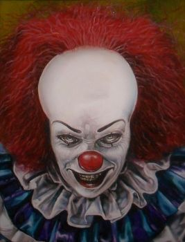 IT PENNYWISE THE CLOWN TIM CURRY A1 by Legrande62