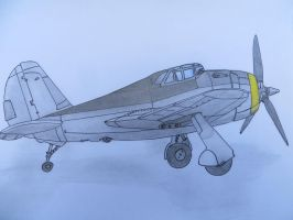 P-43 Lancer Commission for topgun470 by KevlarKatana