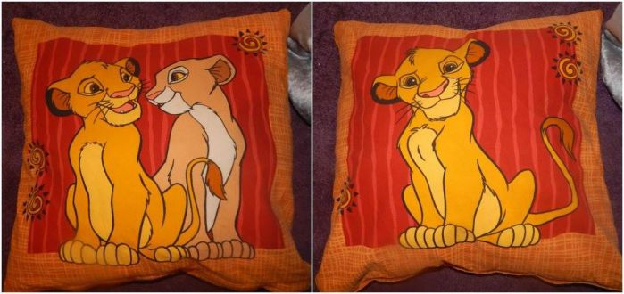 Lion King Vintage Double Sided Pillow by LittleRolox3