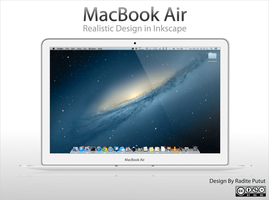 MacBook Air Relastic Design in Inkscape by raditeputut
