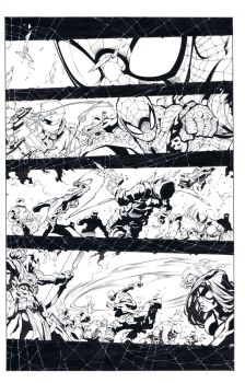 avenging spiderman sample page by TonyKordos