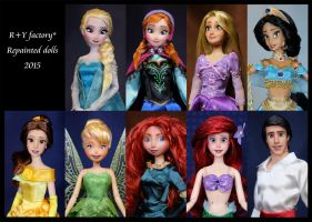 Repainted dolls collection 2015 by RYfactory