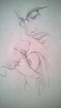 I can't draw kissing poses well. by ErikaRobbins
