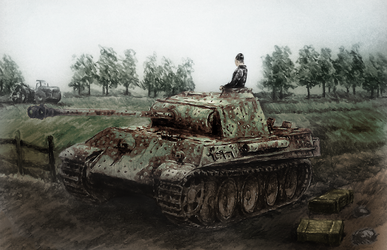 Simple coloured Panzer V ausf G by lhlclllx97