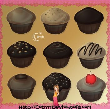 CupCakes Brushes PS by Coby17