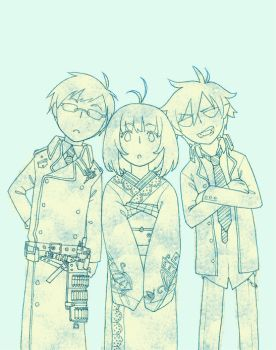 ao no exorcist by nuclearcarrots