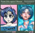 Draw this again! Meme - Sailor Mercury 2012 - 2018 by LadyKraken