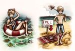 Han and Gree: Summer time! by MiiBT