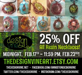 25% OFF all resin pendants this week only! by merrypranxter