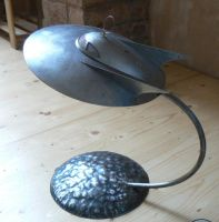 Steel flying saucer with stand by amoebabloke