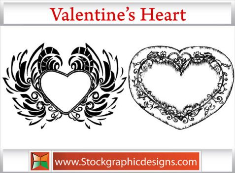 Valentines Heart Brushes by Stockgraphicdesigns