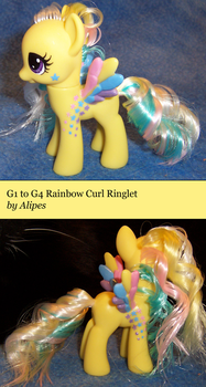 G1 to G4 Rainbow Curl Ringlet Custom Pony by Alipes