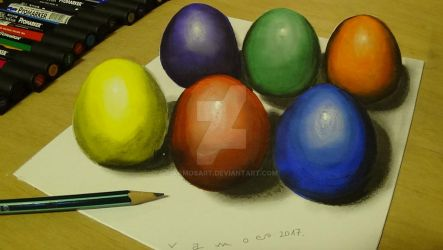 3D Easter Eggs by Vamos by VamosArt