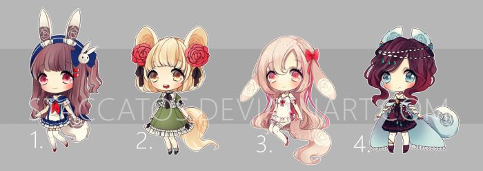 [LAST ONE OPEN] rosary adoptables for lehmurix by Staccatos