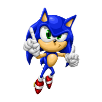 Sonic VICTORY pose by Clutch45