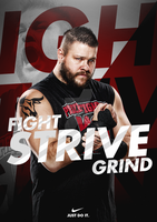 Fight. Strive. Grind. - WWExNike Advertisement by JaggedGFX