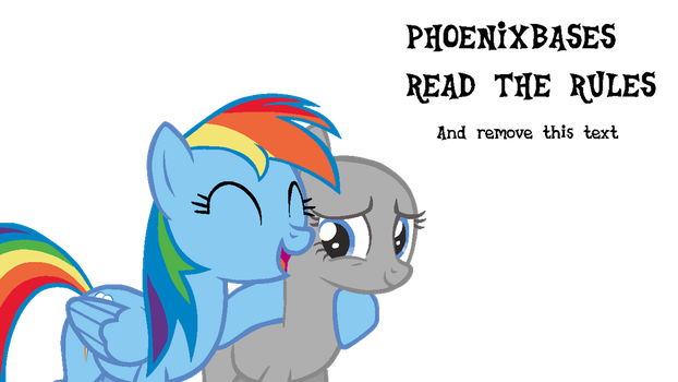 MLP Base: OC x Rainbow Dash by KIngBases