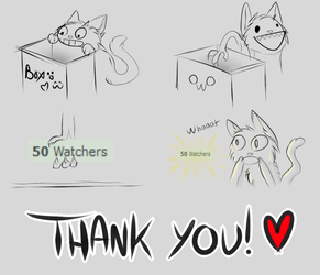 50 Watchers! (Read Description C:) by TheCatDownstairs