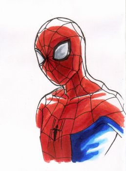 Spidey sketch II by CharmingTone