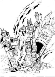 Transformers Action Comics 252 Superion e Menasor by JazzLuca