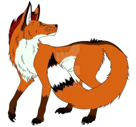Maned Wolf Fursona by Nitsono