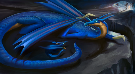 Blue Dragon baby by Jeyfro