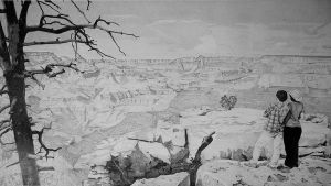 Grand Canyon Drawing by TheRoamingArtist