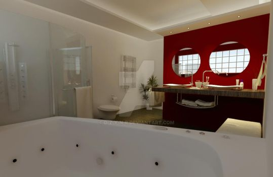 Interior render -- bathroom by d-z-y-n-r