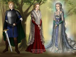 Knight, Queen, and Lady by KellySchot