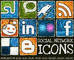 Social Network Icon Set by hongkiat