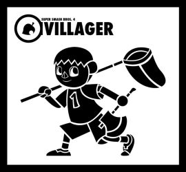 Smash Vectors: Villager (black) by TriforceJ