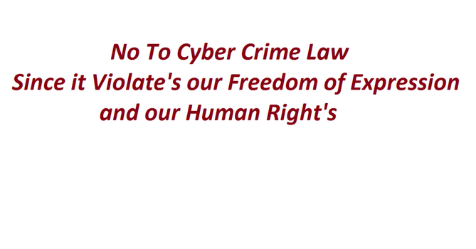 No To Cyber crime law by psyclonius