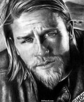 Charlie Hunnam as Jax Teller - Sons of Anarchy by Doctor-Pencil