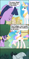 Celestia Doesn't ALWAYS Banish by Xigger