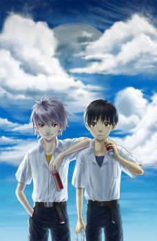Evangelion: Friends by ferus