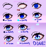 Step-by-Step Anime Eye Tutorial by MikomiKisomi
