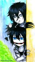 Creepypasta: Chibi L.J and Jeff by Smokertongas-arts