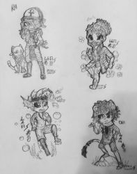 Daily Doodles ~Day 7 /monster boys/ by Retro-Sushi