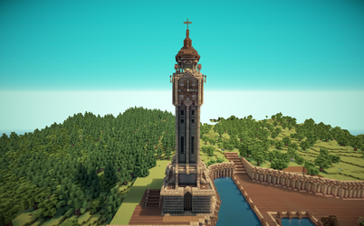 Minecraft Old English Clock Tower by Lil-Lintu