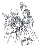 Maxime and Eleonore lineart by TheBrassGlass
