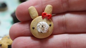 Clay Bunny Roll Cake by funkypinkgal