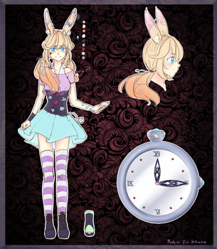 [DT] Rabbit girl - Design sheet by Rushire