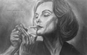 Jessica Lange drawing  (American horror story) by lyyy971