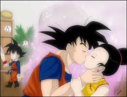 Goku And chichi by kaxrei