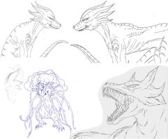 Kaiju: Monsters sketching 2 by Cyprus-1