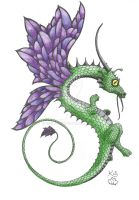 Long Faery Dragon by Scellanis