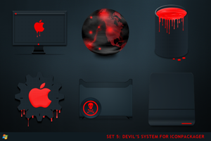 Devils System For IconPackager by ipholio