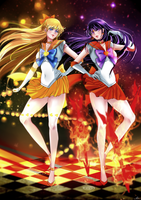 Sailor venus and mars- Sailor moon with love by rintousaka12