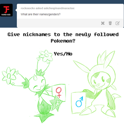 Chespin and Maractus Genders by Pavagat